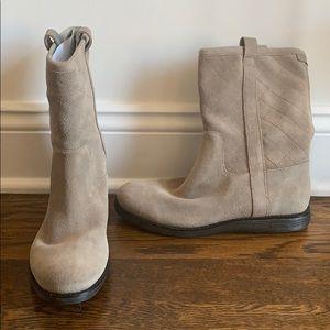 Cole Haan Waterproof Suede Grey Boots